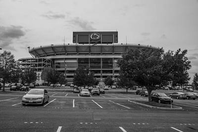 Photograph - Beaver Stadium And Lot by John McGraw