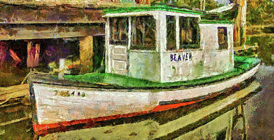 Print featuring the photograph Beaver The Old Fishing Boat by Thom Zehrfeld