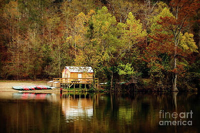 Photograph - Beaver's Bend Canoe Hut by Tamyra Ayles