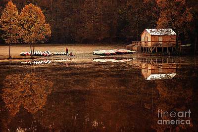 Beaver's Bend Quiet Morning Art Print by Tamyra Ayles