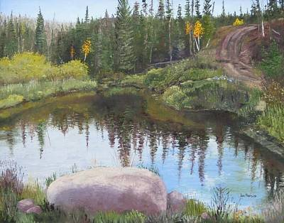 Painting - Beaver's Playground by Jan Hodson