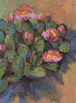 Beaver Painting - Beavertail Cactus 4 by Diane McClary