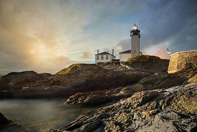 Photograph - Beavertail Light by Robin-Lee Vieira