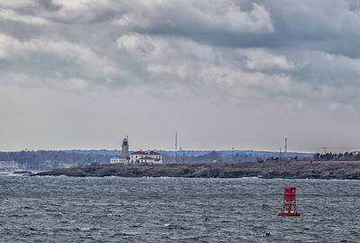 Photograph - Beavertail Lighthouse From Across The Bay by Brian MacLean