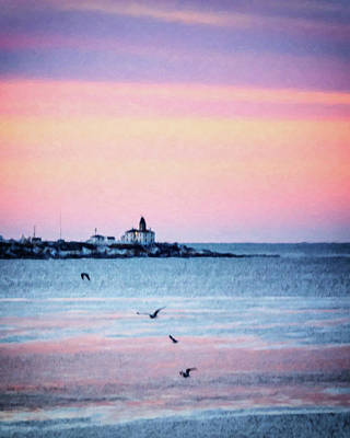Photograph - Beavertail Lighthouse Impressionistic by Vicki Jauron