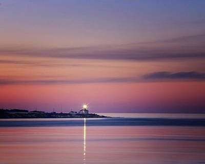 Photograph - Beavertail Lighthouse In Pink And Purple by Vicki Jauron