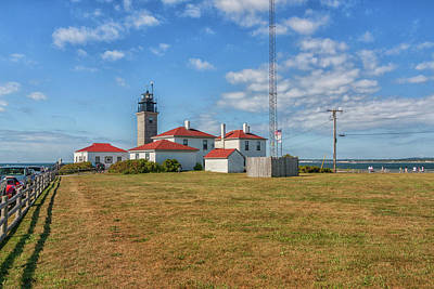 Photograph - Beavertail Lighthouse Jamestown Rhode Island by Brian MacLean