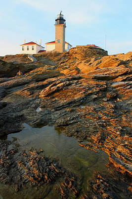 Photograph - Beavertail Lighthouse by John Burk