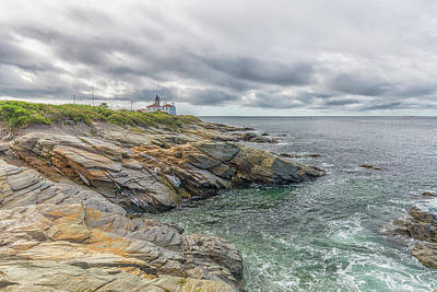 Photograph - Beavertail Lighthouse On Narragansett Bay by Brian MacLean