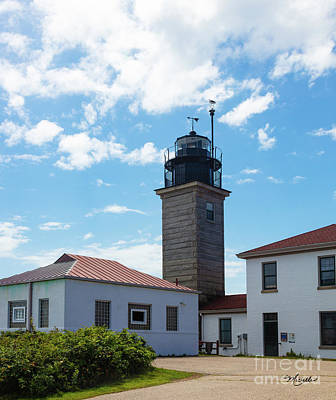 Photograph - Beavertail Lighthouse Rhode Island by Michelle Constantine
