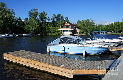 Canadian Heritage Photograph - Beaverton Harbour And Historic Boathouse by Charline Xia