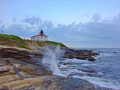 Photograph - Beavertrail Lighthouse At Dusk by Red Cross