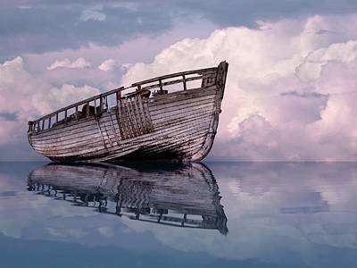 Photograph - Becalmed - Old Fishing Boat by Gill Billington