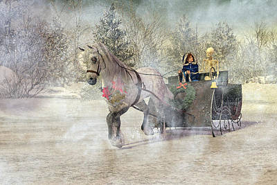 Surrealism Digital Art - Because I Could Not Stop for Death by Betsy Knapp