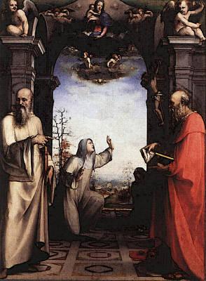 St. Catherine Of Siena Digital Art - Beccafumi Domenico Stigmatization Of St Catherine Of Siena by PixBreak Art