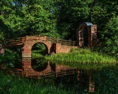 Beckerbruch Bridge Reflection Art Print by Martina Thompson