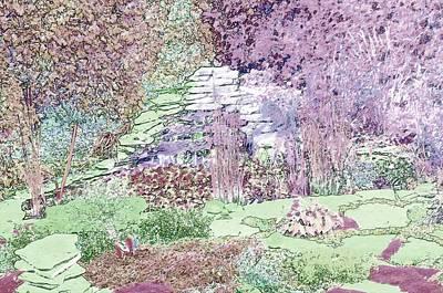 Digital Art - Beckie's Magic Garden by Cheryl Charette
