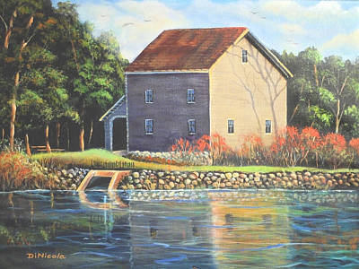 Saw Mill Painting - Beckman Mill by Anthony DiNicola