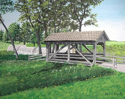 Painting - Beckman Mill Footbridge by Norm Starks