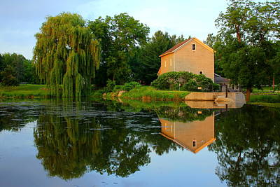 Photograph - Beckman Mill Reflections by Viviana  Nadowski