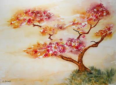 Painting - Beckoning Bonsai by Carol Crisafi