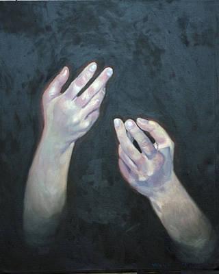 Beckoning Hands Art Print by Douglas Manry