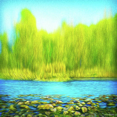 Digital Art - Beckoning Woods by Joel Bruce Wallach
