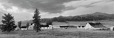 Digital Art - Beckwith Ranch Bw Pano by Peter J Sucy