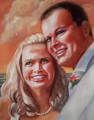 Becky And Chris Art Print by Marilyn Jacobson