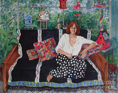 Becky Painting - Becky At The Lake House by Sherri Crabtree