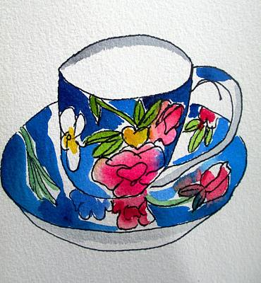 Painting - Becky's Teacup by Sacha Grossel