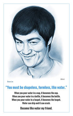 Bruce Lee Digital Art - Become Like Water by Greg Joens