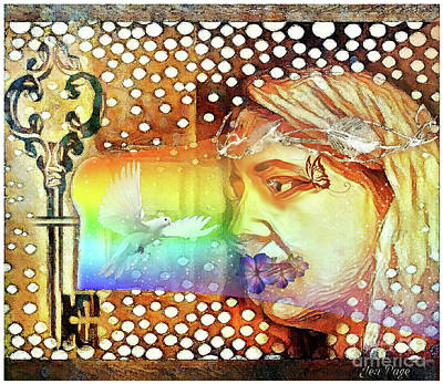 Self-portrait Mixed Media - Becoming by Jennifer Page