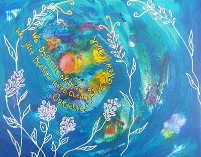 Painting - Becoming Ourselves by Becky Chappell