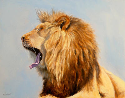 Painting - Bed Head - Lion by Linda Merchant