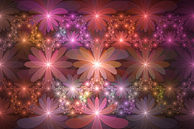Digital Art - Bed Of Flowers by Gabiw Art