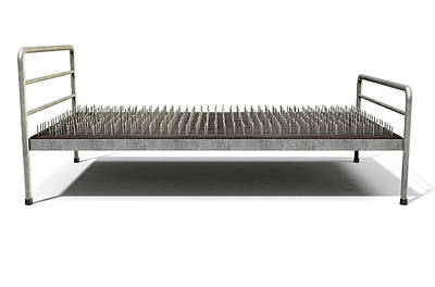 Bed Of Nails Isolated Art Print