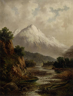 Beds Painting - Bed Of The Waimakariri River by Thomas Attwood