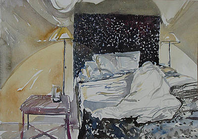 Painting - Bed Slept In by Vaughan Davies