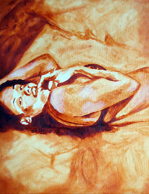 In The Spotlight Painting - Bed Tease by Jacq Lovelace