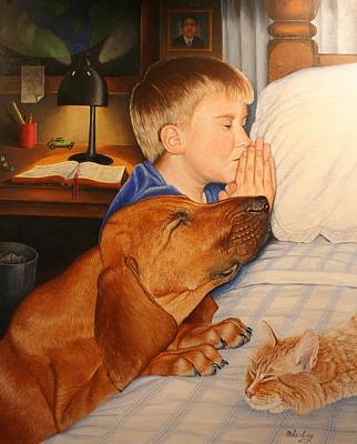 Bed Time Prayers Art Print by Mike Ivey
