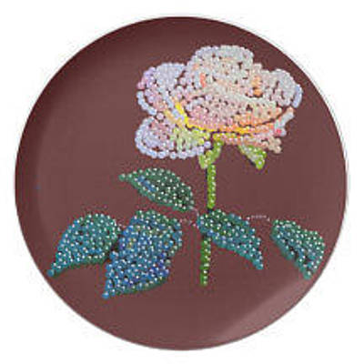 Digital Art - Bedazzed Rose Plate by R  Allen Swezey