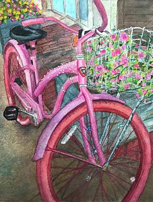 Painting - Bedazzled Bike by Carol Warner