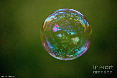 Photograph - Bedazzled Bubble by Susan Herber