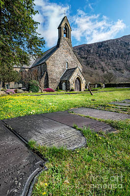 Medieval Entrance Photograph - Beddgelert Church by Adrian Evans