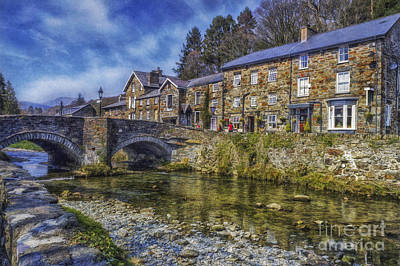 Stone Buildings Digital Art - Beddgelert Village by Ian Mitchell