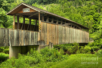 Photograph - Bedford County Claycomb Covered Bridge by Adam Jewell