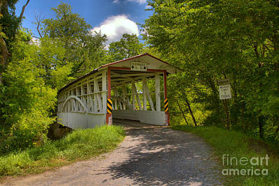 Photograph - Bedford County Diehl's Covered Bridge by Adam Jewell