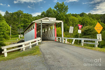 Photograph - Bedford County Ryot Covered Bridge by Adam Jewell