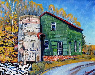 Grist Mill Painting - Bedford Mills by Phil Chadwick